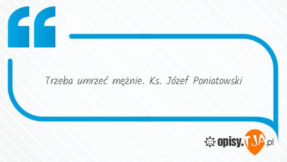 Józef Poniatowski Cytaty ks Józef Poniatowski